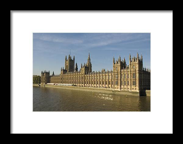 Parliament Framed Print featuring the photograph Houses Of Parliament On A Rare Day by Charles Ridgway