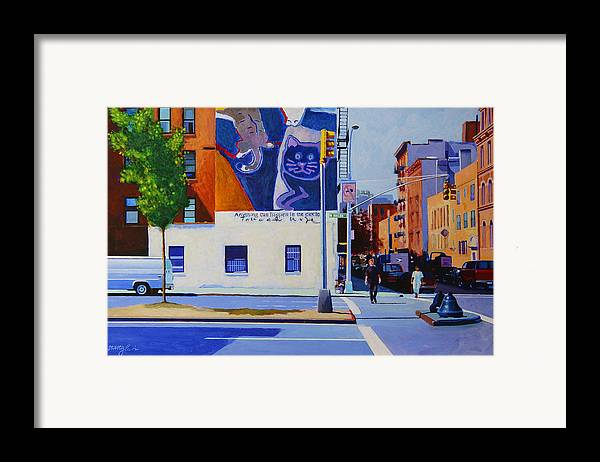 Houston Street Framed Print featuring the painting Houston Street by John Tartaglione