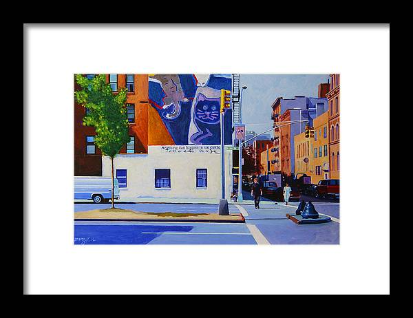 Houston Street Framed Print featuring the painting Houston Street by John Tartaglione