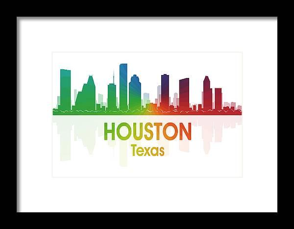 Houston Framed Print featuring the mixed media Houston Tx by Angelina Vick