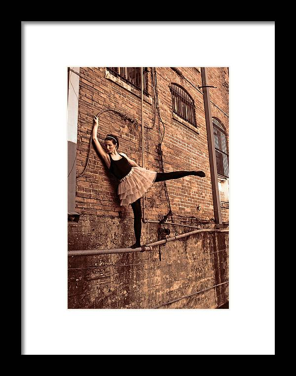 Girl Framed Print featuring the photograph How Maddening No.1 by Zane Kunning