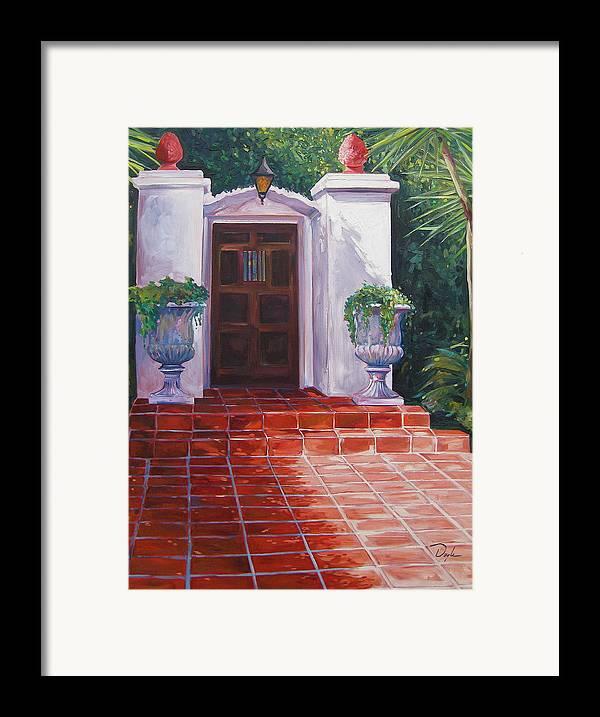 Doorway Framed Print featuring the painting Howard by Karen Doyle