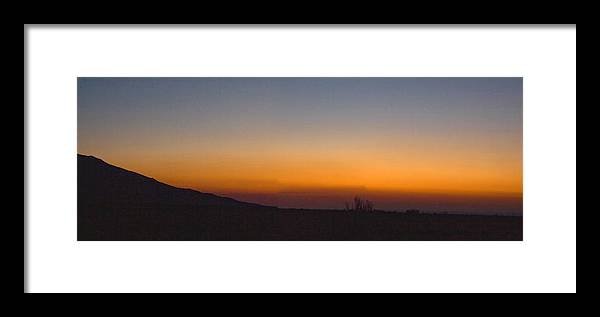 Howie Idaho; Sunrise; Summer; Orange Sky; Horizontal Framed Print featuring the photograph Howie Idaho Sunrise by John Higby