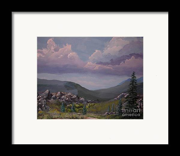 Mountains Framed Print featuring the painting Hualapai Mountains by John Wise