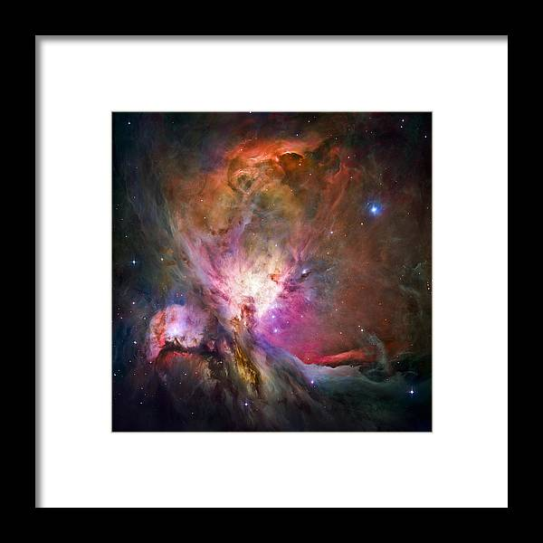 3scape Framed Print featuring the photograph Hubble's sharpest view of the Orion Nebula by Adam Romanowicz