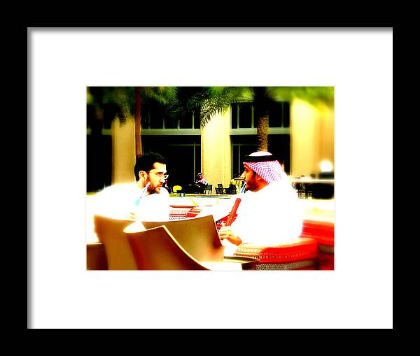 Shisha Framed Print featuring the photograph Hubbly Bubbly In Dubai by Funkpix Photo Hunter