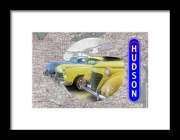 Hudson Framed Print featuring the digital art Hudson 1 by Barry Wills