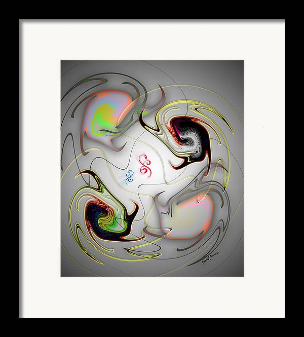 Abstract Framed Print featuring the digital art Huevos Ranchero by Anthony Caruso
