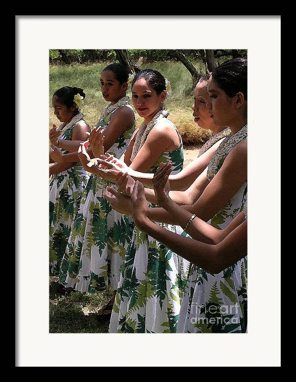 Hula Framed Print featuring the photograph Hula Hands by James Temple