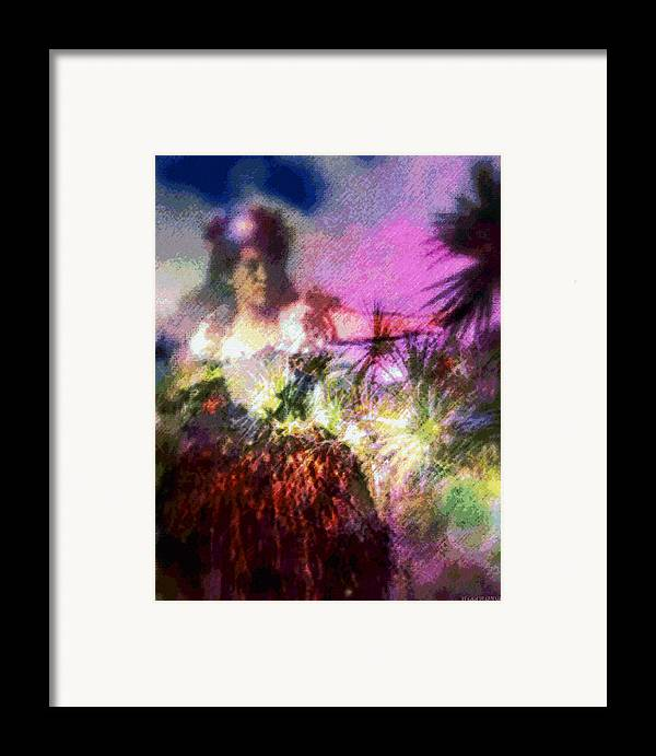 Tropical Interior Design Framed Print featuring the photograph Hula Mai Oe by Kenneth Grzesik