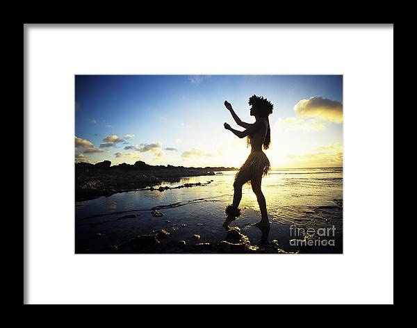 Arm Framed Print featuring the photograph Hula Silhouette by Vince Cavataio - Printscapes