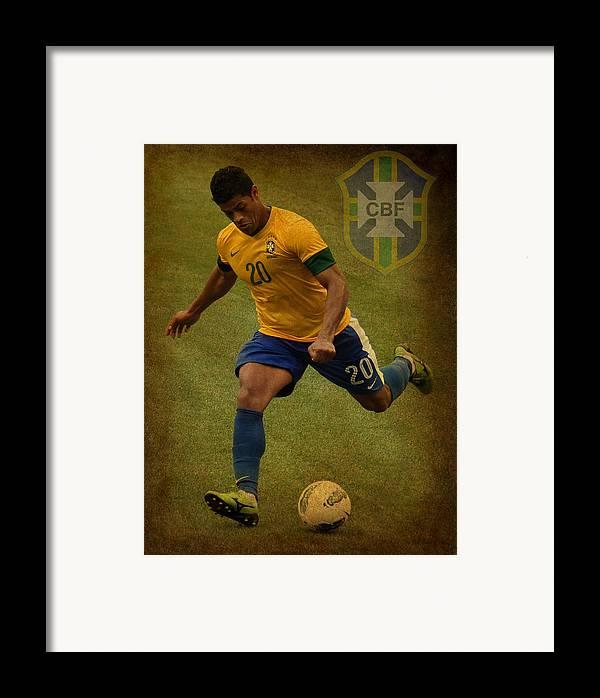 Givanildo Vieira De Souza Framed Print featuring the photograph Hulk Kicks Givanildo Vieira De Souza by Lee Dos Santos