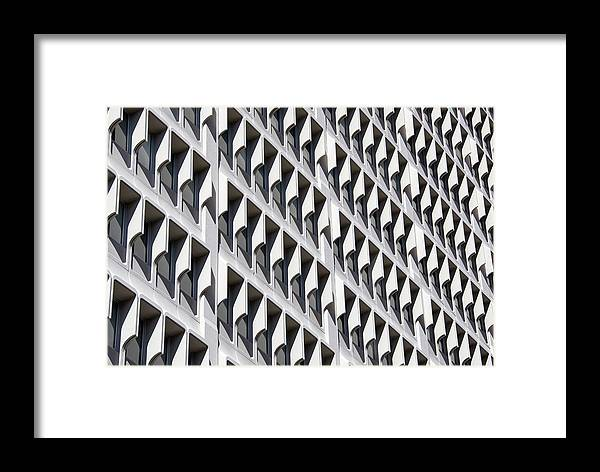 Architecture Framed Print featuring the photograph Human Beehive by Ramunas Bruzas