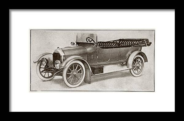 Auto Framed Print featuring the drawing Humber 14 Hp Model Of 1914. From La by Vintage Design Pics