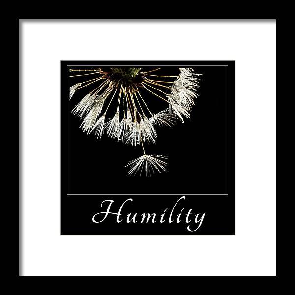 Good Samaratan Society Framed Print featuring the photograph Humility by Mary Jo Allen