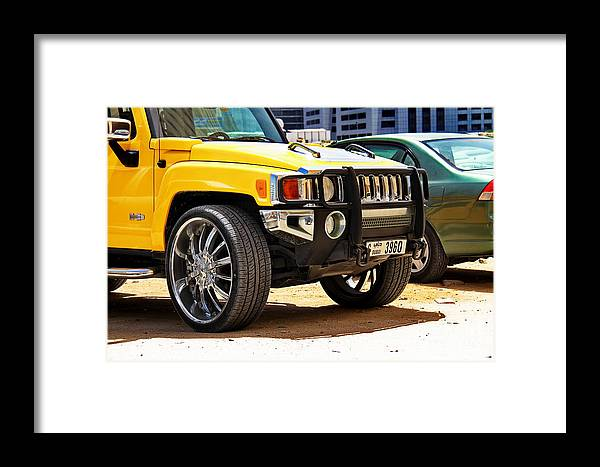 Car Framed Print featuring the photograph Hummer by Hussein Kefel