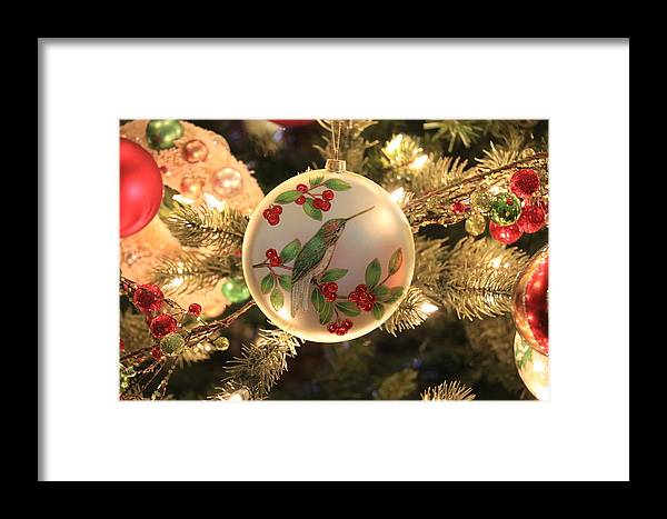 Hummingbird Ornament Framed Print featuring the photograph Hummingbird Ornament by Debbie Storie
