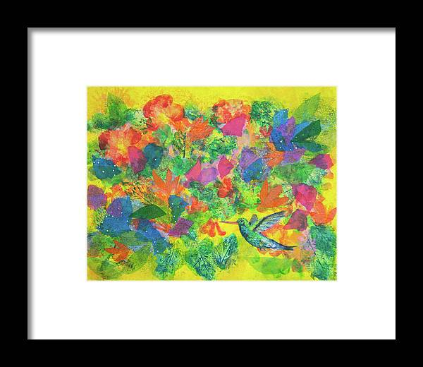 Hummingbird Framed Print featuring the photograph Hummingbird by Paper Jewels By Julia Malakoff