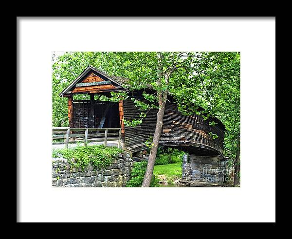 Framed Print featuring the photograph Humpback Bridge by Kathy Jennings