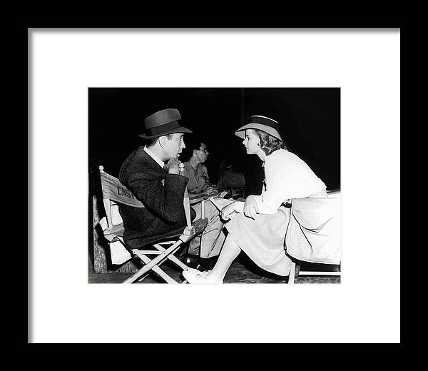 Casablanca Framed Print featuring the photograph Humphrey And Ingrid Backstage Casablanca 1942 by Daniel Hagerman