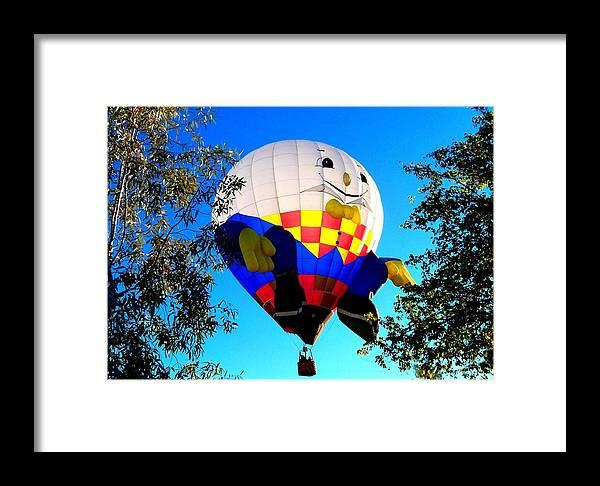 Humpty Dumpty Balloon Framed Print featuring the photograph Humpty Dumpty Balloon by Adrienne Wilson