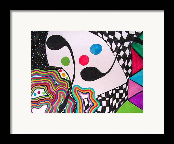 Abstract Framed Print featuring the painting Humpty Dumpty Fell by Katina Cote