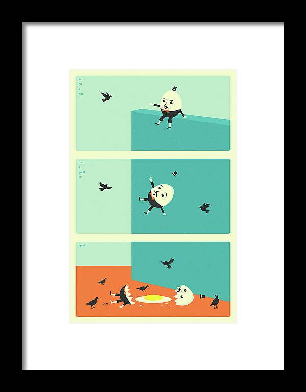 Humpty Dumpty Framed Print featuring the digital art Humpty Dumpty by Jazzberry Blue