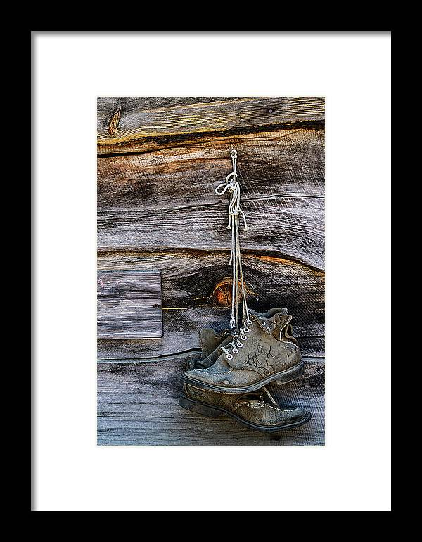 Antque Gas And Steam Engine Museum Framed Print featuring the photograph Hung Out To Dry by Guy Shultz