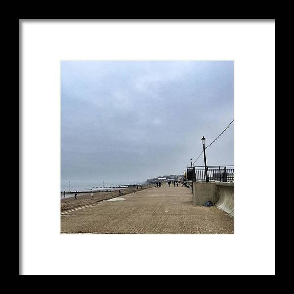 Beautiful Framed Print featuring the photograph Hunstanton At 4pm Yesterday As The by John Edwards