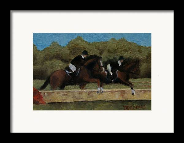 Horse Framed Print featuring the painting Hunt Scene by Donna Thomas