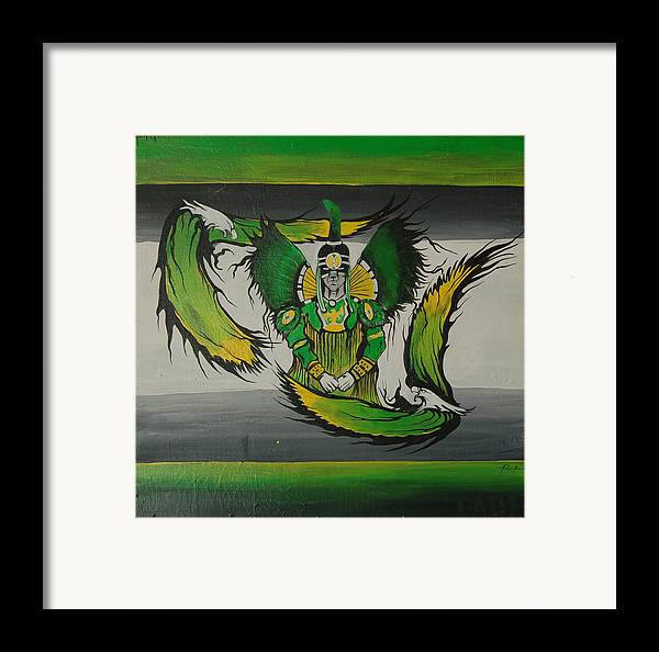 Eagles Framed Print featuring the painting Hunter by Dallas Poundmaker