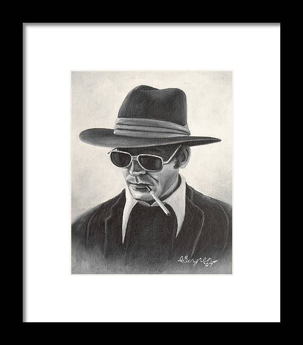 Hst Framed Print featuring the painting Hunter by Daniel Bergren