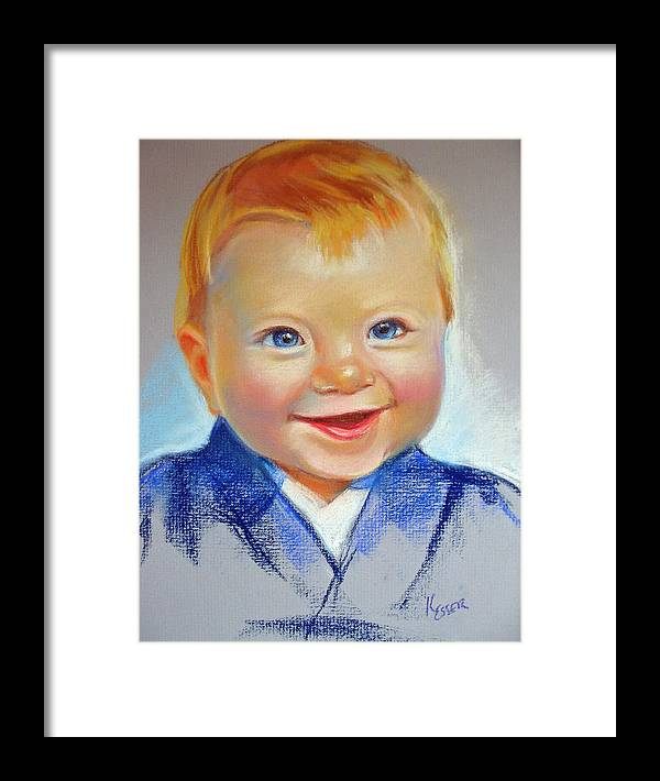 Baby Framed Print featuring the painting Hunter by Kaytee Esser
