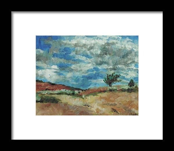 Impressionist Framed Print featuring the painting Hunter Lake Hillside by Susan Moore