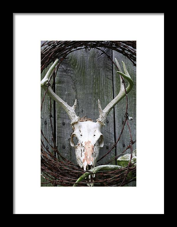 Barn Framed Print featuring the photograph Hunters Wreath by Diane Merkle