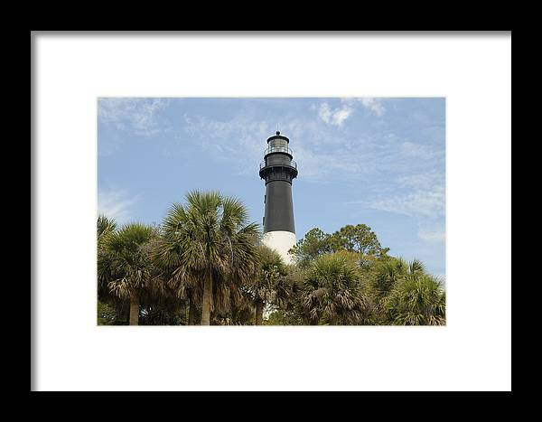 Hunting Island Framed Print featuring the photograph Hunting Island Lighthouse by Darrell Young