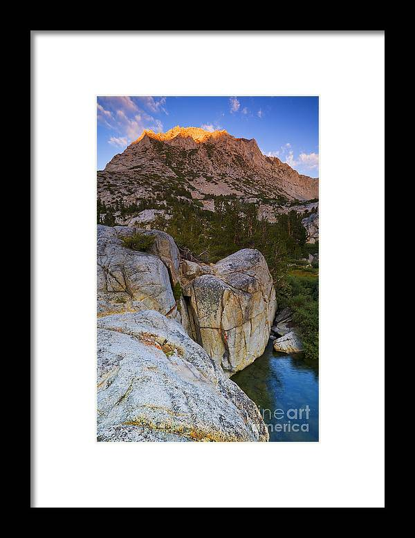 California Framed Print featuring the photograph Hurd Peak Halo by Greg Clure