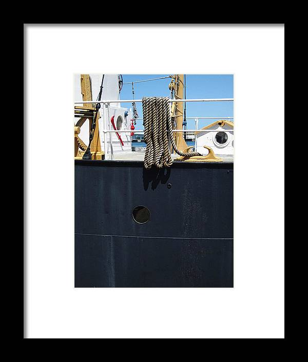 Rope Framed Print featuring the photograph Huron 9 by Mary Bedy