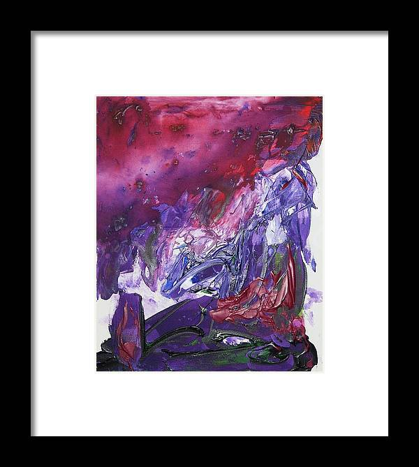 Abstract Framed Print featuring the painting Hurricane Katrina by Bruce Combs - REACH BEYOND