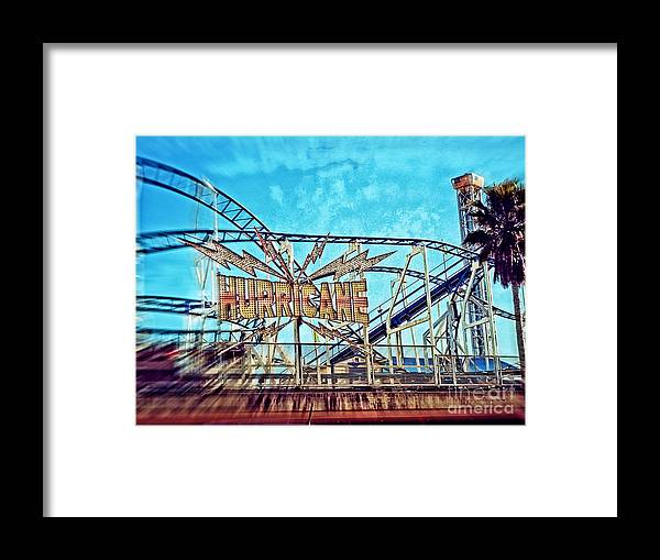 Hurricane Framed Print featuring the photograph Hurricane Roller Coaster Santa Cruz by Jim And Emily Bush