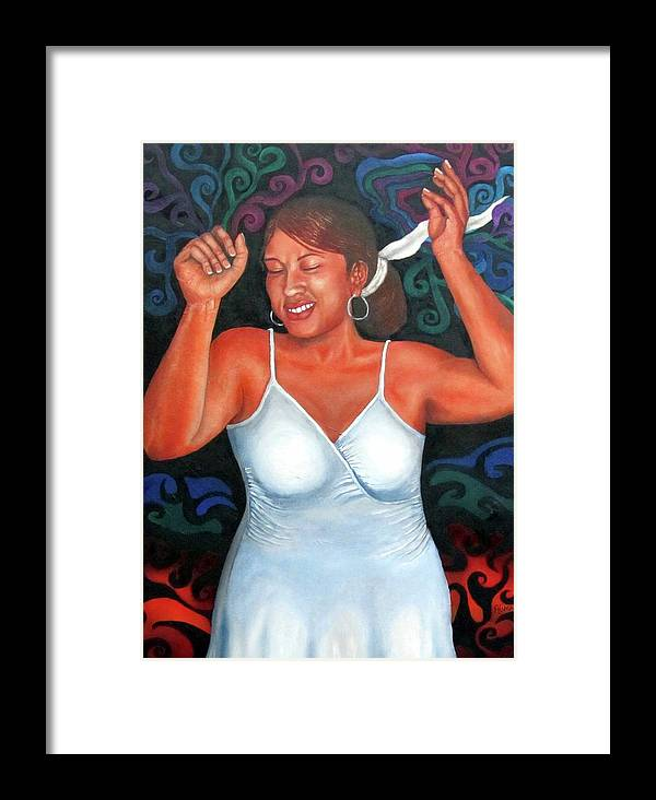 Self-portrait Framed Print featuring the painting Hustle And Flow by Alima Newton