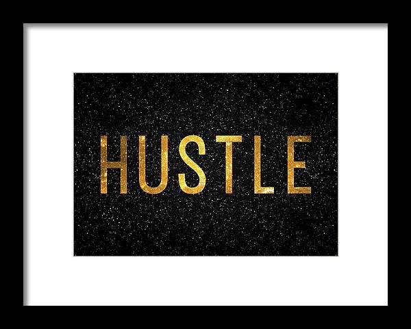 Hustle Framed Print featuring the digital art Hustle by Zapista OU