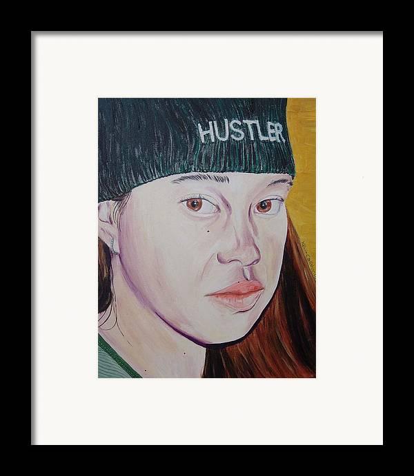 Kevin Callahan Framed Print featuring the painting Hustler Girl by Kevin Callahan