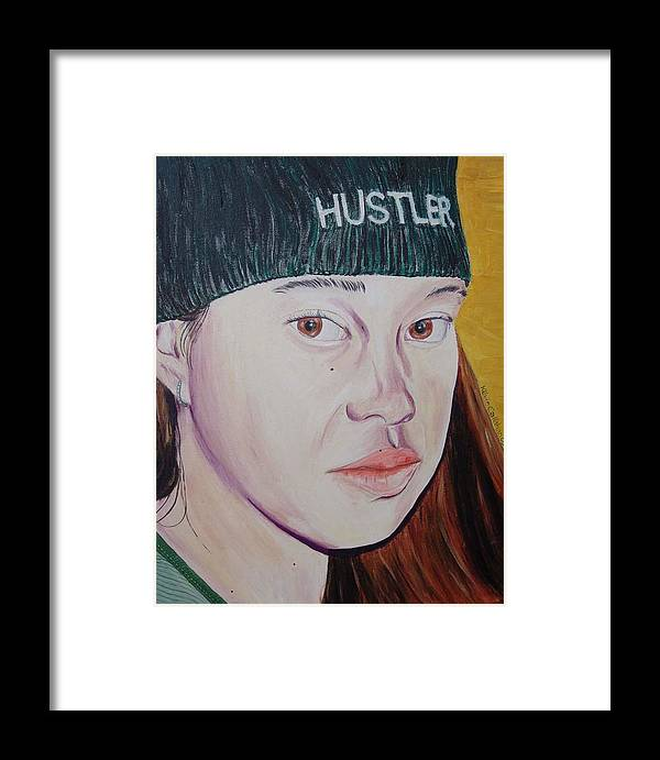 Kevin Callahan Framed Print featuring the painting Hustler Girl by Kevin Callahan