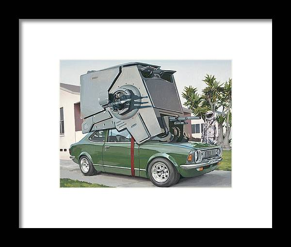 Astronaut Framed Print featuring the painting Hybrid Vehicle by Scott Listfield