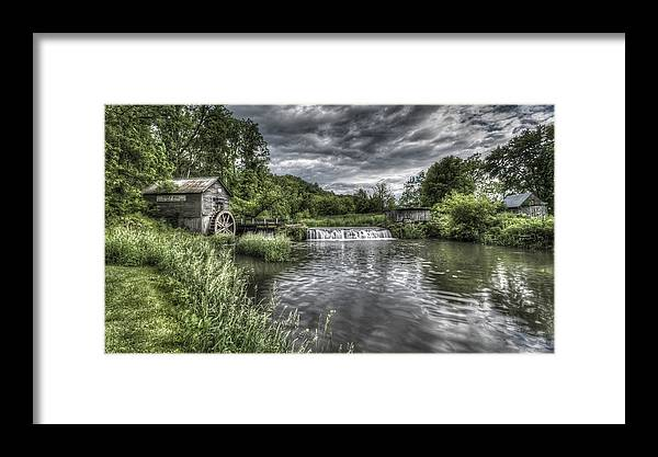 Mill Framed Print featuring the photograph Hyde's Mill by Brad Bellisle