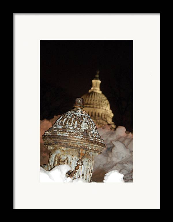 Washington Dc Framed Print featuring the photograph Hydrant Capitol Washington Dc by Thomas Michael Corcoran