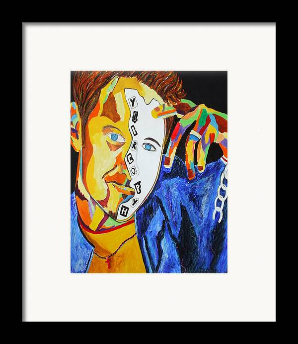 Chain Framed Print featuring the mixed media Hypocrisy 3 by Angela Green