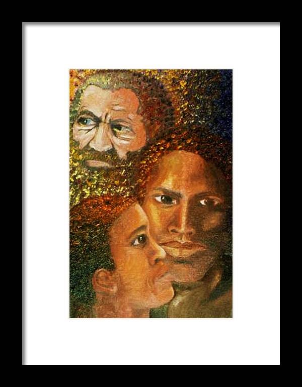 Portrait Framed Print featuring the painting I Am A Man by Alima Newton