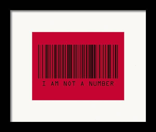 Barcode Framed Print featuring the digital art I Am Not A Number by Michael Tompsett